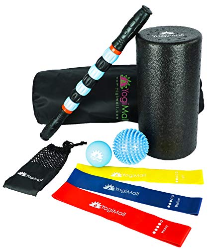 ed4f748bd4 YogiMall All-in-One Massage   Fitness 9 Piece Mobility Kit – Foam Rollers