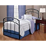 Hillsdale Furniture 298BTWR Wendell Bed Set with Rails, Twin, Textured Black