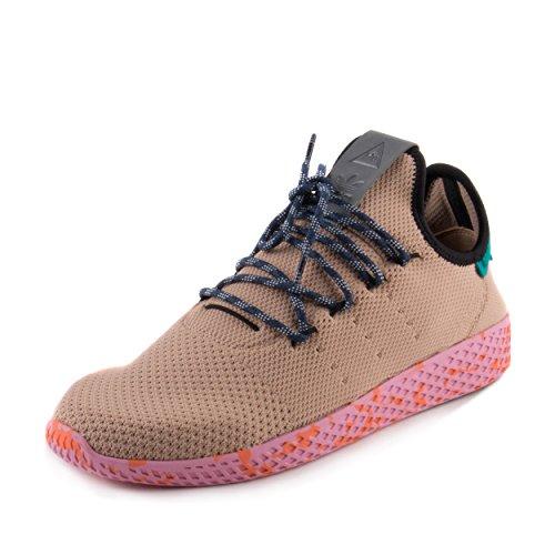 d3baea325688d Galleon - Adidas Mens PW Tennis Human Race Brown Pink Fabric Size 7