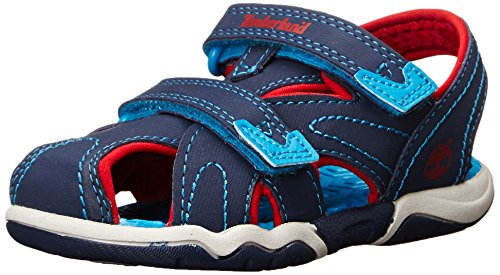 Timberland Adventure Seeker Closed Toe T Dress Sandal (Toddler/Little Kid),Navy/Red/Blue,12 M US Little Kid by Timberland