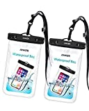 #1: Anker Universal Waterproof Case, IPX8 Waterproof Phone Pouch Dry Bag for iPhone X / 8 / 8 Plus, Samsung Galaxy S8 / S7, Samsung Note Series, Google Pixel 2, up to 6 Inches—2 Pack