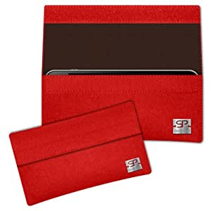 SIMON PIKE Cáscara Funda de móvil NewYork 2 rojo Zopo C3 Fieltro de lana