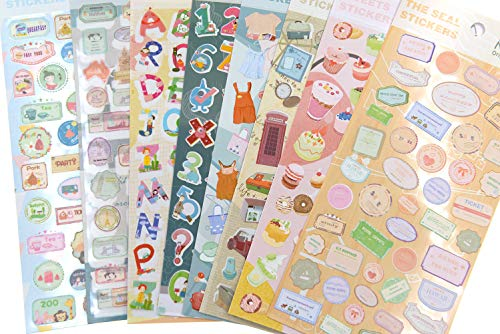360 Pieces(8 Sheets) Kids Collection Stickers for Craft, Laptop,Fridge, Daily Planner and calendars, Teachers Classroom