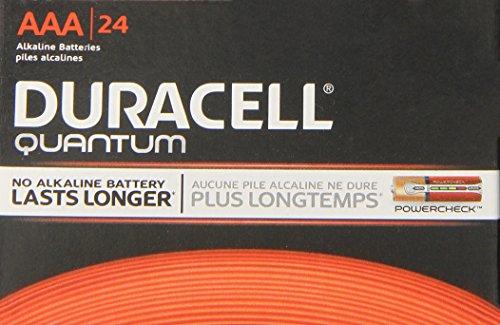 Duracell Quantum QU2400BKD09 щелочно-двуокись марганца батареи AAA, 1.5V, от -4 до 130 градусов по Фаренгейту (в упаковке 24)