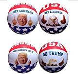 Beach Ball Donald Trump Inflatable Summer Pool Toys USA Patriotic Funny COMPLETE 4-PACK Thumbs Up and Middle Finger American Eagle Pop Resistant Ball