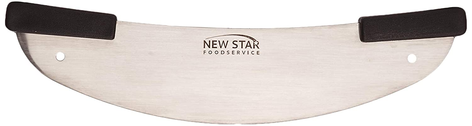 New Star Commercial Stainless Steel Rocker-Style Deluxe Pizza Knife, 20-Inch, 1 Piece