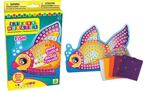 The Orb Factory Sticky Mosaics Singles Sticker, Fish - Mosaic Single