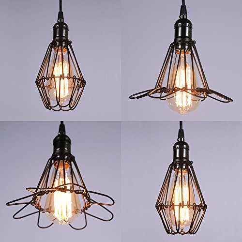 MY CANARY Industrial Vintage Hanging Pendant Light, Metal Rustic ...