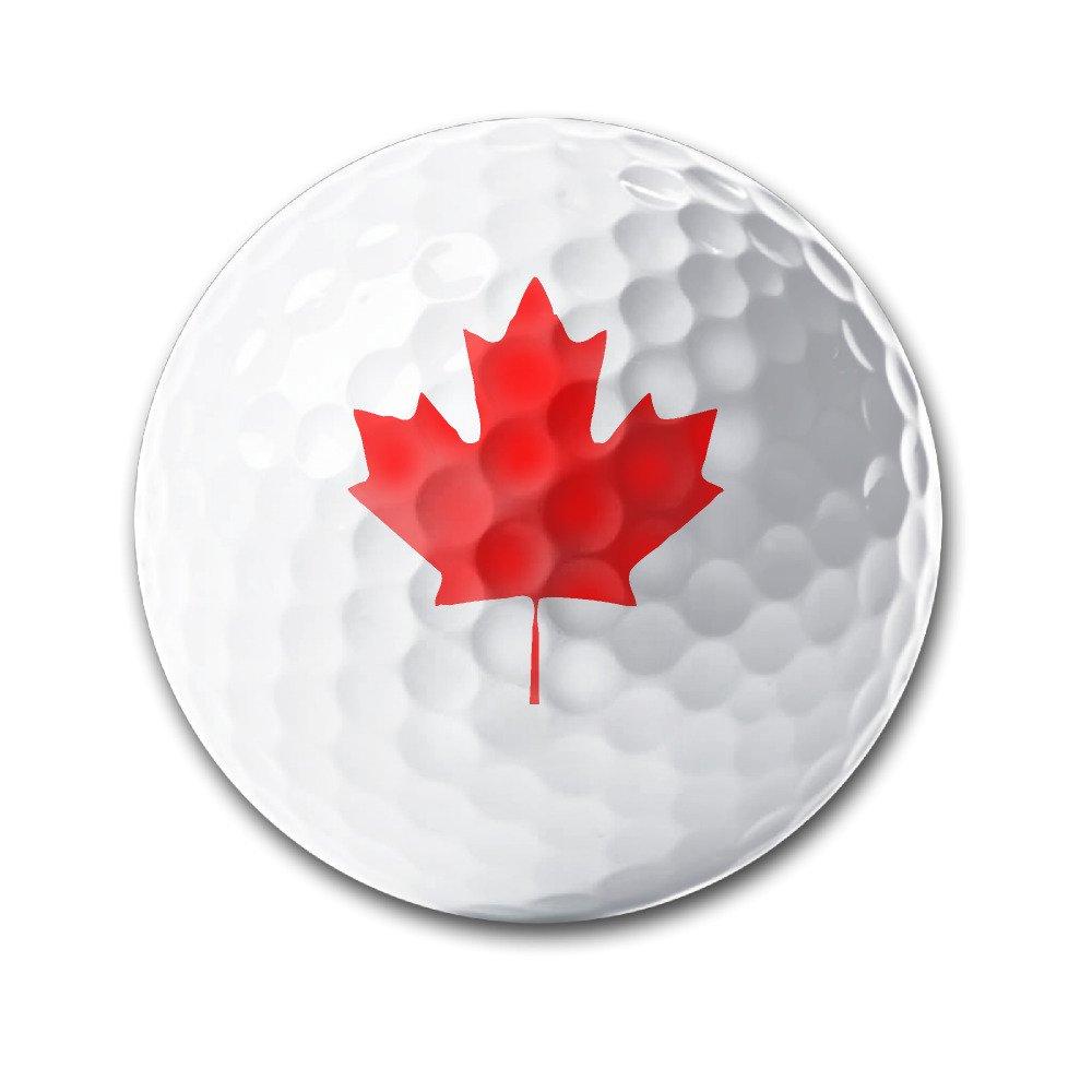 Canada Maple Leaf Canadian Flag White Elastic Golf Balls Practice Golf Balls Golf Training Aid Balls