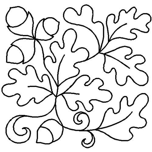 Quilting Creations Edyta Sitar Oak Leaf Block Cut Shape Stencil, 7