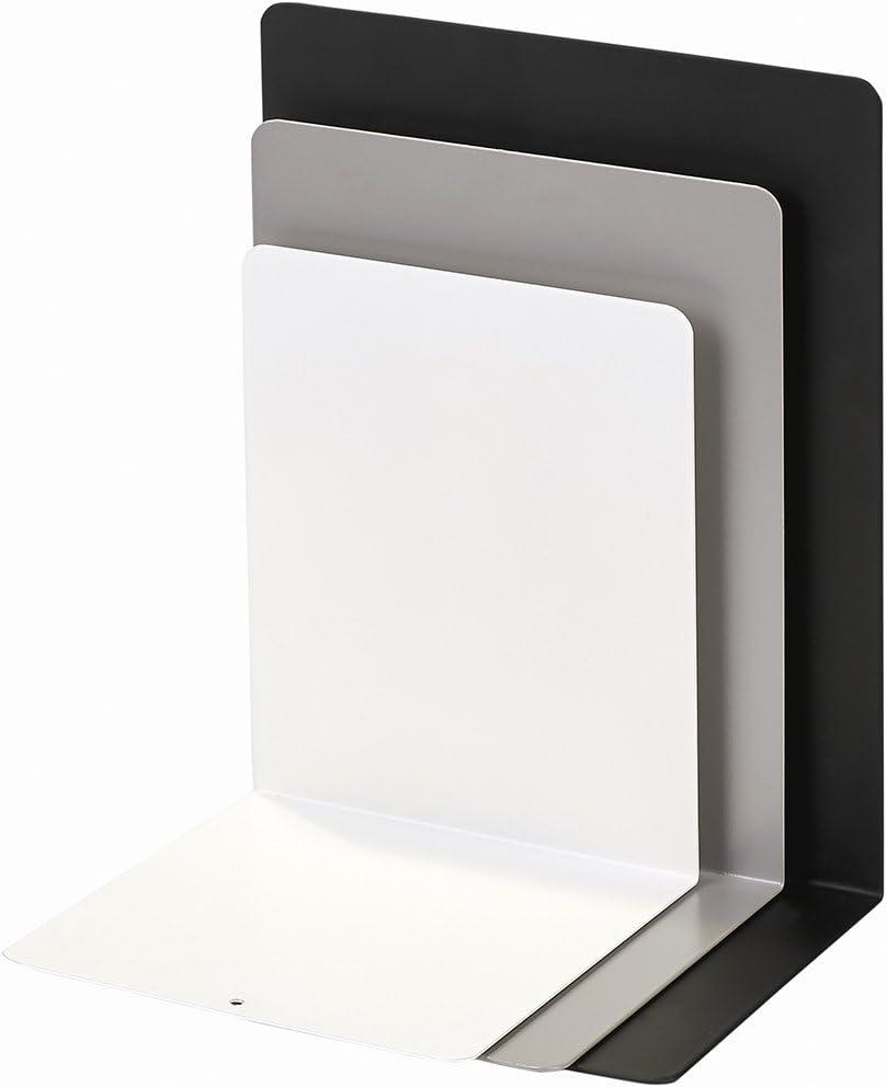 grau und wei/ß Drei Metall-Buchst/ützen im Set in schwarz moses Buchst/ützen-3er-Set libri/_x 3er Set Buchst/änder aus Metall