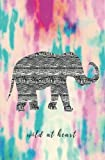 Wild at Heart: Elephant Notebook; Journal; Small Blank Lined Notebook; Pink Blue Abstract Watercolor Cover; Inspirational Notebook for Girls and Women ... Journal and Notebook Collection) (Volume 20)