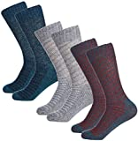 Mio Marino Women's Winter Soft Wool Socks - Cozy Warm Thick Knitted Crew Socks - 3 Pack - Gift Box