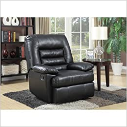 Serta Big Tall Memory Foam Massage Recliner Black 0714547236654