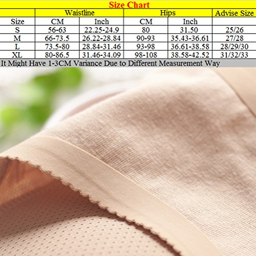 Zhhlaixing Women's Large Size Seamless Hip Butt Calzoncillos Fake Butt Panties Middle Waist Nude