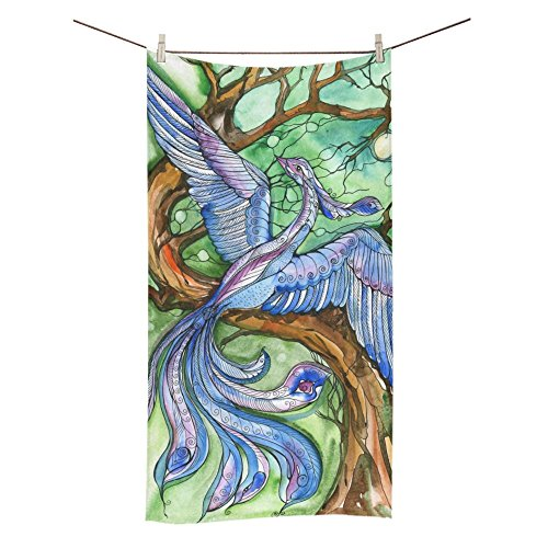 ADEDIY Fashion Custom Towel Blue Bird Bath Towel 30x56 Inch