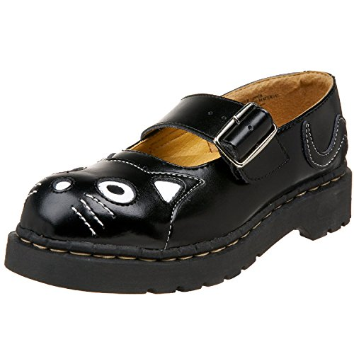 5 EU U K 7 Jane 38 SHOES by Mary Kitty LEATHER US TUK Black T2025 Ladies Anarchic UK WOMEN GIRL T CaagBq