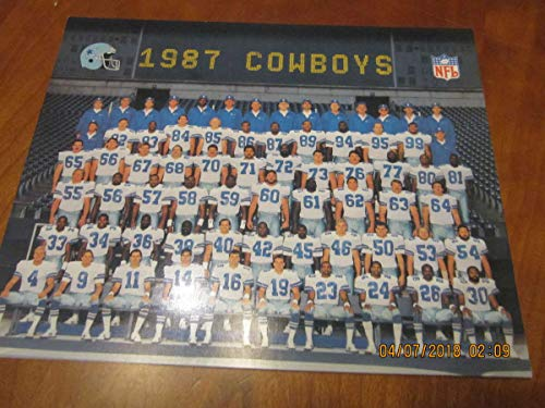 1987 Dallas Cowboys Team Picture 8x10 card photo