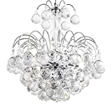 Cheap Ikakon Crystal Chandeliers Flush Mount Ceiling Light Fixtures Modern Pendant Lamp with 3 Lights Dining Room Bathroom Bedroom Living Room