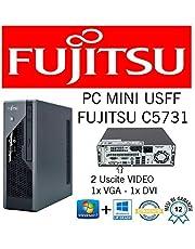 MINI PC SLIM FUJISTU C5731 E8400 3.0GHZ/RAM 4GB/HD 250GB/DVD+RW/WIN 10 PRO (Ricondizionato Certificato)