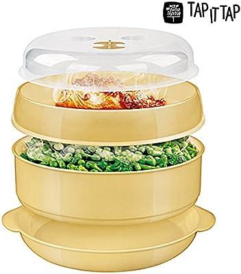 Recipiente Vaporera recipiente para cocinar vapor microondas a 2 ...