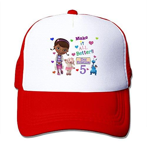 toddler-kids-doc-mcstuffins-birthday-snapback-mesh-caps-adjustable-mesh-hat