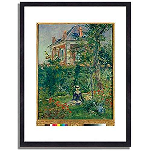 エドゥアールマネ Edouard Manet「A Garden Nook at Bellevue. 1880 」 インテリア アート 絵画 プリント 額装作品 フレーム:木製(黒) サイズ:M (306mm X 397mm) B00N63RVFA 2.M (306mm X 397mm) 3.フレーム:木製(黒) 3.フレーム:木製(黒) 2.M (306mm X 397mm)