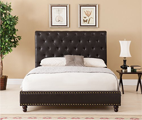 Boraam Wentworth Bed Set, King, Brown