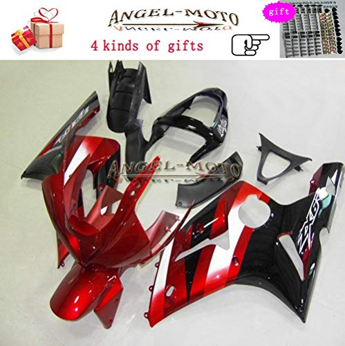 Angel-moto ABS Plastic Injection Molding Kit Fit for Kawasaki ZX6R (2003 2004) ZX636 Ninja ZX 6R (03-04) Motorcycle Body Fairing Painted - Abs Molding Plastic
