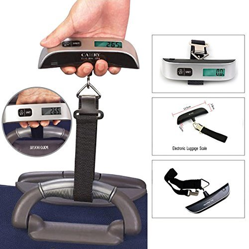 Aerb Digital 110 Lbs Electronic Luggage Scale W Temperature Sensor and Tare Function