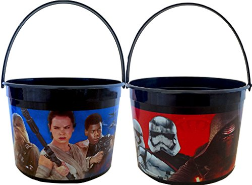 Star Wars Treat Pail (Star Wars the Force Awakens Halloween Trick O Treat Pails 4.5 in High Pack of 2)