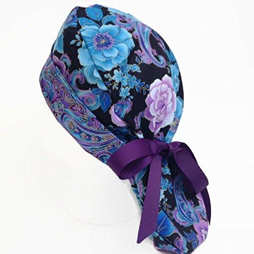 a1bd8079dbc Amazon.com  Ponytail Scrub Hat Petals  Handmade