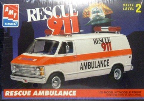 amt 1/25 Dodge Van Rescue Ambulance Rescue911 ダッジバンの商品画像