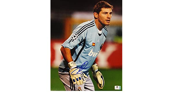 Iker Casillas Hand Signed Autographed Jumbo 11x14 Photo Real Madrid GA 728411 at Amazons Sports Collectibles Store