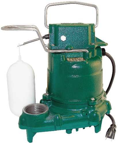 Zoeller M53 Mighty-mate Submersible Sump Pump, 1/3 Hp (Industrial Series Cast Iron)