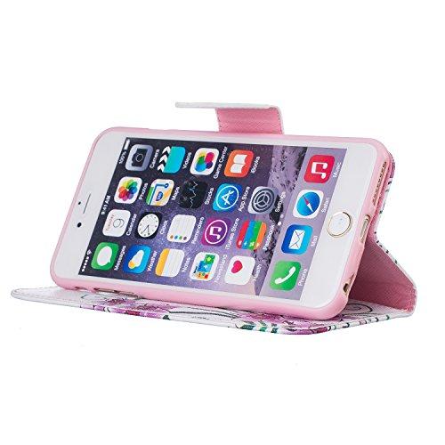 Coque pour Apple iPhone 6s Plus(5.5 Zoll ),Housse en cuir pour Apple iPhone 6s Plus(5.5 Zoll ),Ecoway Rétro motif coloré étui en cuir PU Cuir Flip Magnétique Portefeuille Etui Housse de Protection Coq