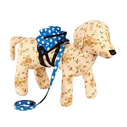 Nueva perro de mascota manchas blancas en la mochila azul para Senderismo Paseos tamaño - S