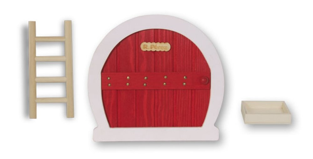 Ratoncito Pérez. Puerta Mágica. Incluye Puerta, escaleras, recipiente para dientes y diario de mis dientes. Rojo o Azul. 1 unidad (Azul)