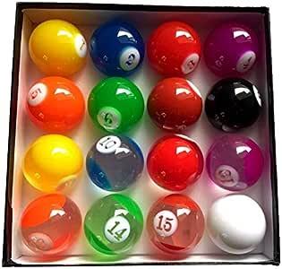LSB-TAIQIU, 1 Juego Completo Conjunto Transparente De Colores Bolas De Billar 57.25mm La Norma Internacional De Piscina Juegos Bolas De Resina For El Billar: Amazon.es: Hogar