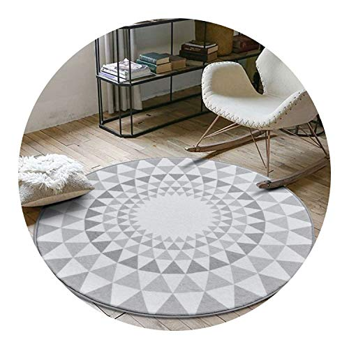 Nordic Gray Series Round Carpets for Living Room Computer Chair Area Rug,B,150cm Diameter (Edmonton Rugs Ikea)