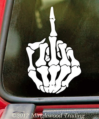 Black - Skeleton Middle Finger 10