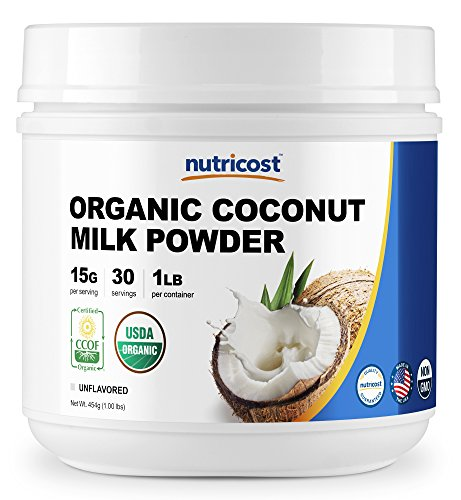 Nutricost Organic Coconut Milk Powder 1LB - Non-GMO, Certified Organic Coconut Milk Powder (Coconut Milk Organic Powder)