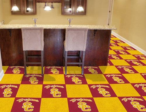 USC Trojans Official 18''x18'' Modular Carpet Tiles (20) by Fanmats