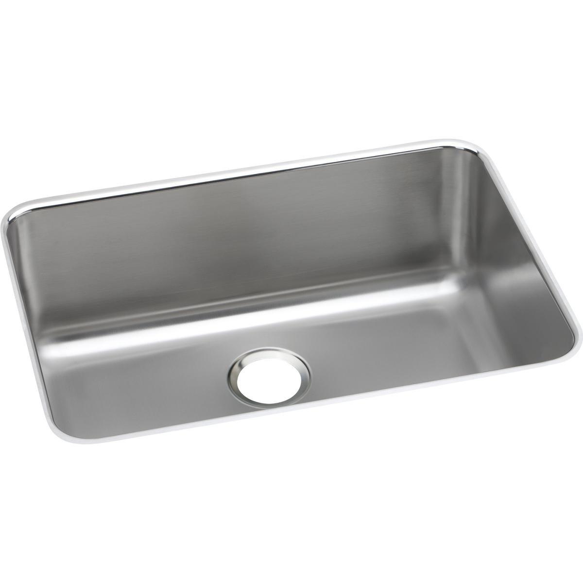 Elkay ELUH241610 Lustertone Classic Single Bowl Undermount Stainless Steel Sink
