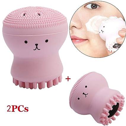 Masaje De Silicona Con Brocha Limpiadora Para Pulpo Pequeño Y Limpieza Facial Cómoda Para El Cuidado
