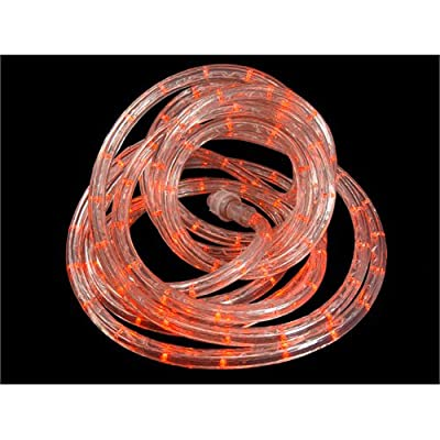 18' Orange LED Indoor/Outdoor Christmas Rope Lights