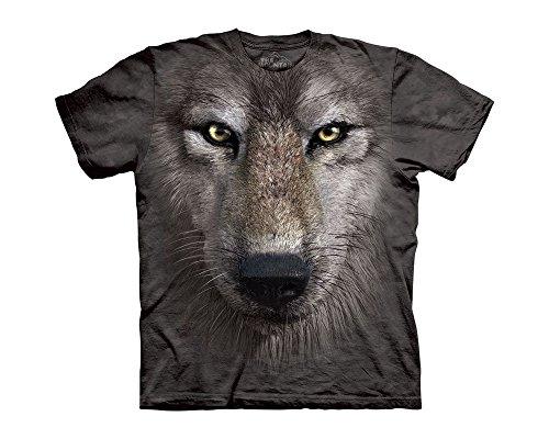 The Mountain Wolf Face T-Shirt, grau