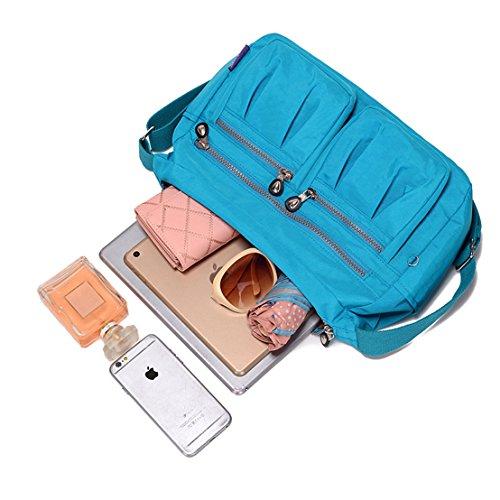 TianHengYi Blue bandolera Bolso azul mujer Sky xw18zaqx