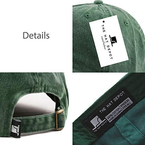 37443c419d7fb ... The Hat Depot 100% Cotton Pigment Dyed Low Profile Six Panel Cap Hat  (Green ...