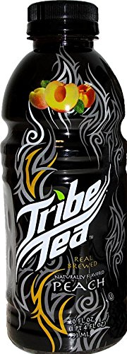 Tribe Tea Real Sugar Peach, 20 ounce (24 Bottles)